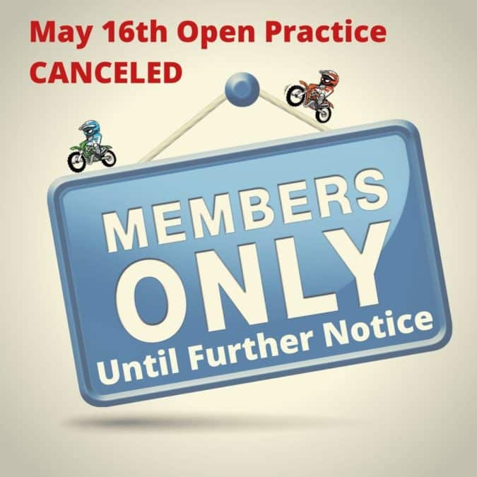 Open Practice Canceled and Guest Restriction Extended